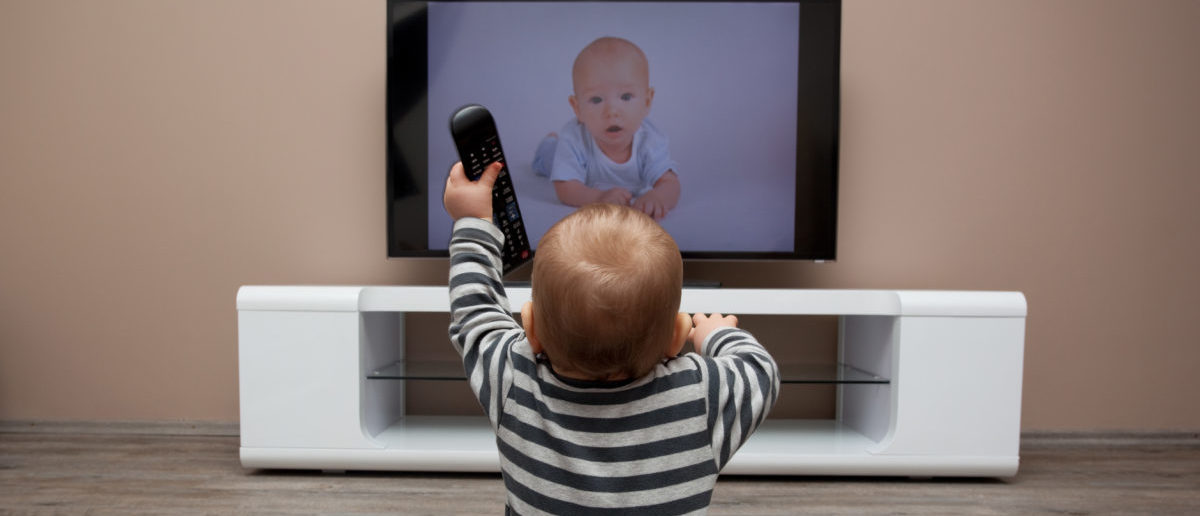 A study found children 2 and under watched more TV in 2014 than in 1997. SHUTTERSTOCK/ Frantisek Czanner