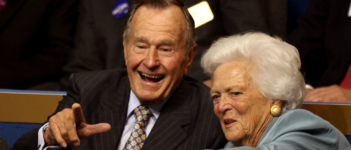 U.S. senators from the states of Texas and Maine introduced legislation to put the likeness of former President George H.W. Bush and first lady Barbara Bush on limited edition currency in 2019 to honor their memory. Justin Sullivan/Getty Images