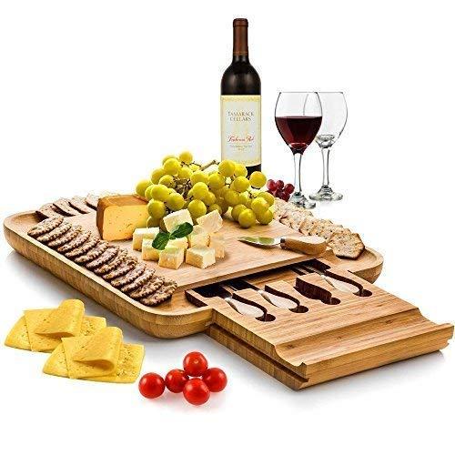 Save $30 on this stylish bamboo cheese board(Photo via Amazon)