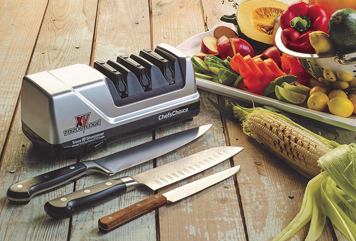 Get half-off on this electric knife sharpener while supplies last (Photo via Amazon)