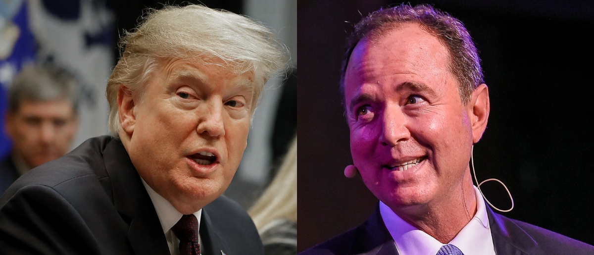 President Donald Trump went after Rep. Adam Schiff on Twitter Feb. 8, 2019. Chip Somodevilla/Getty Images and Ben Gabbe/Getty Images for The New Yorker
