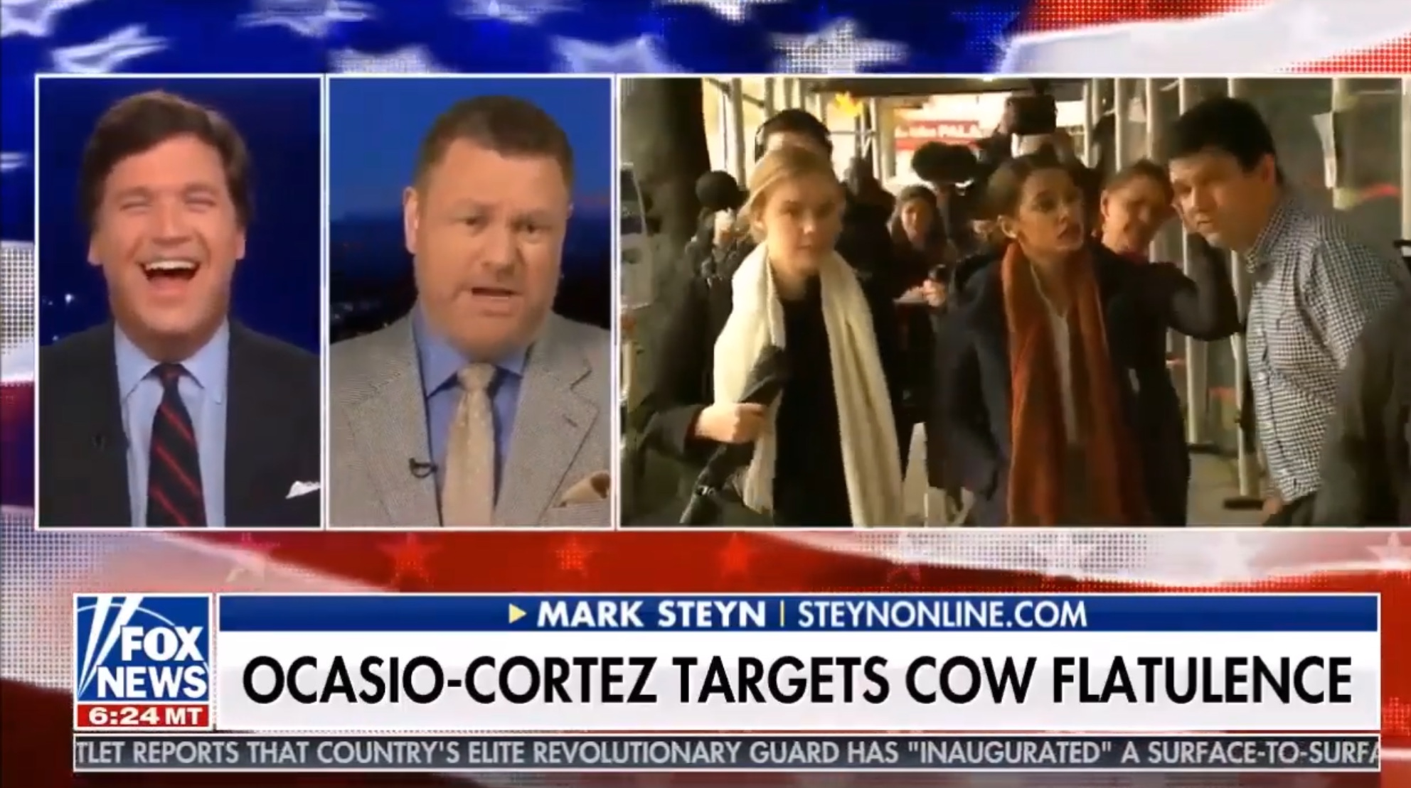 "Mark Steyn appears on ""Tucker Carlson Tonight"" to discuss the Green New Deal, Feb. 7, 2019. YouTube screenshot."
