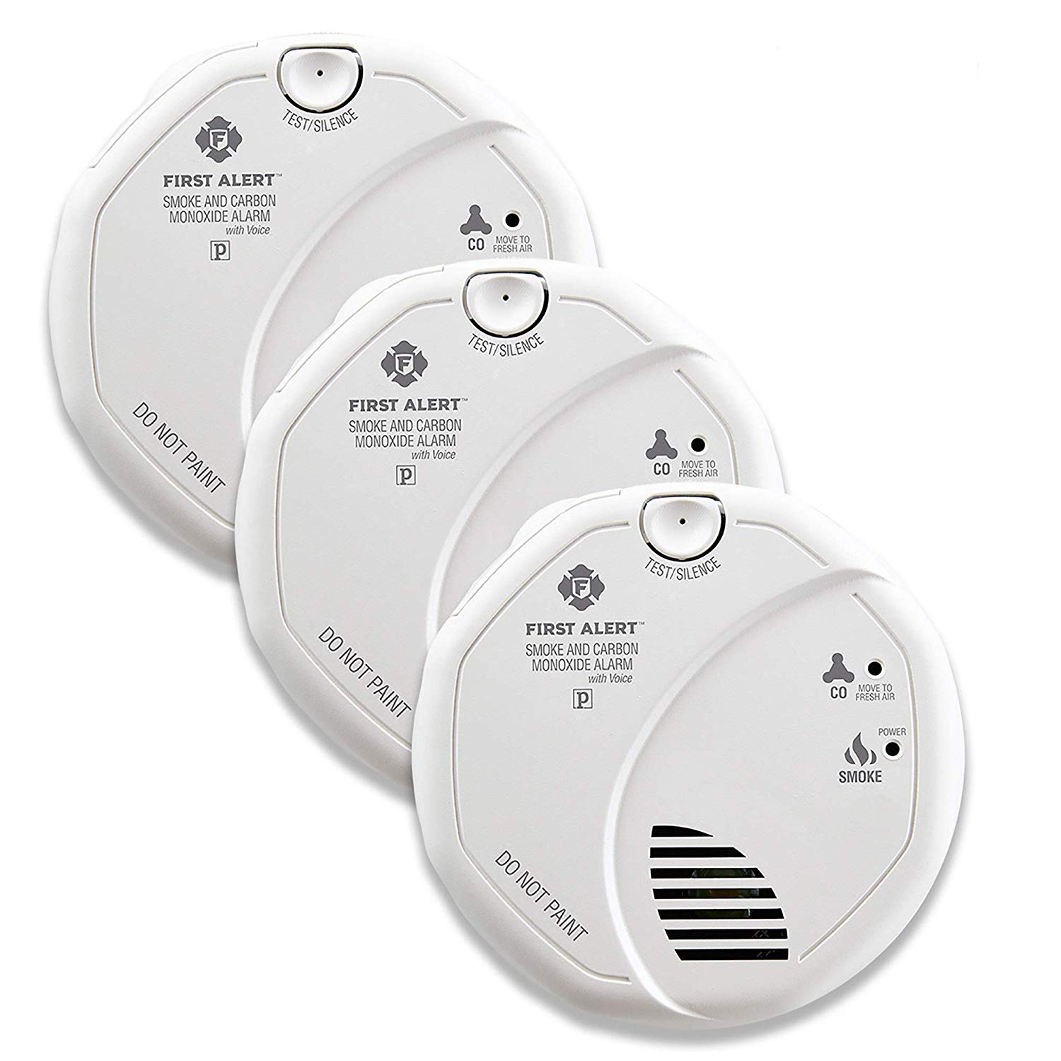 "Normally $250, get three FirstAlert Two-in-One smoke and CO ""talking"" detectors now for over $100 off (Photo via Amazon)"