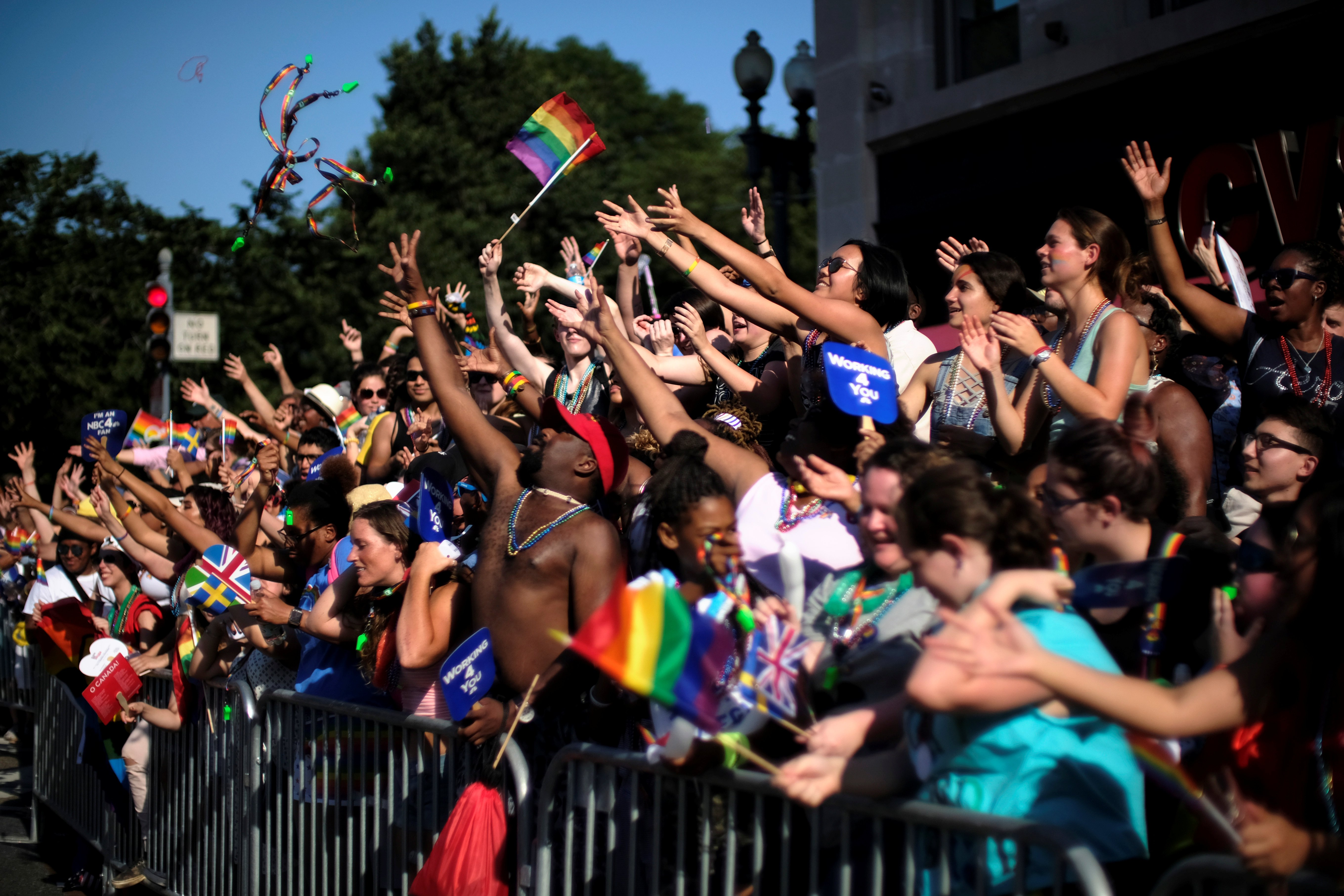 Thousands celebrate the annual LGBTQ Capital Pride parade in Washington June 10, 2017. REUTERS/James Lawler Duggan