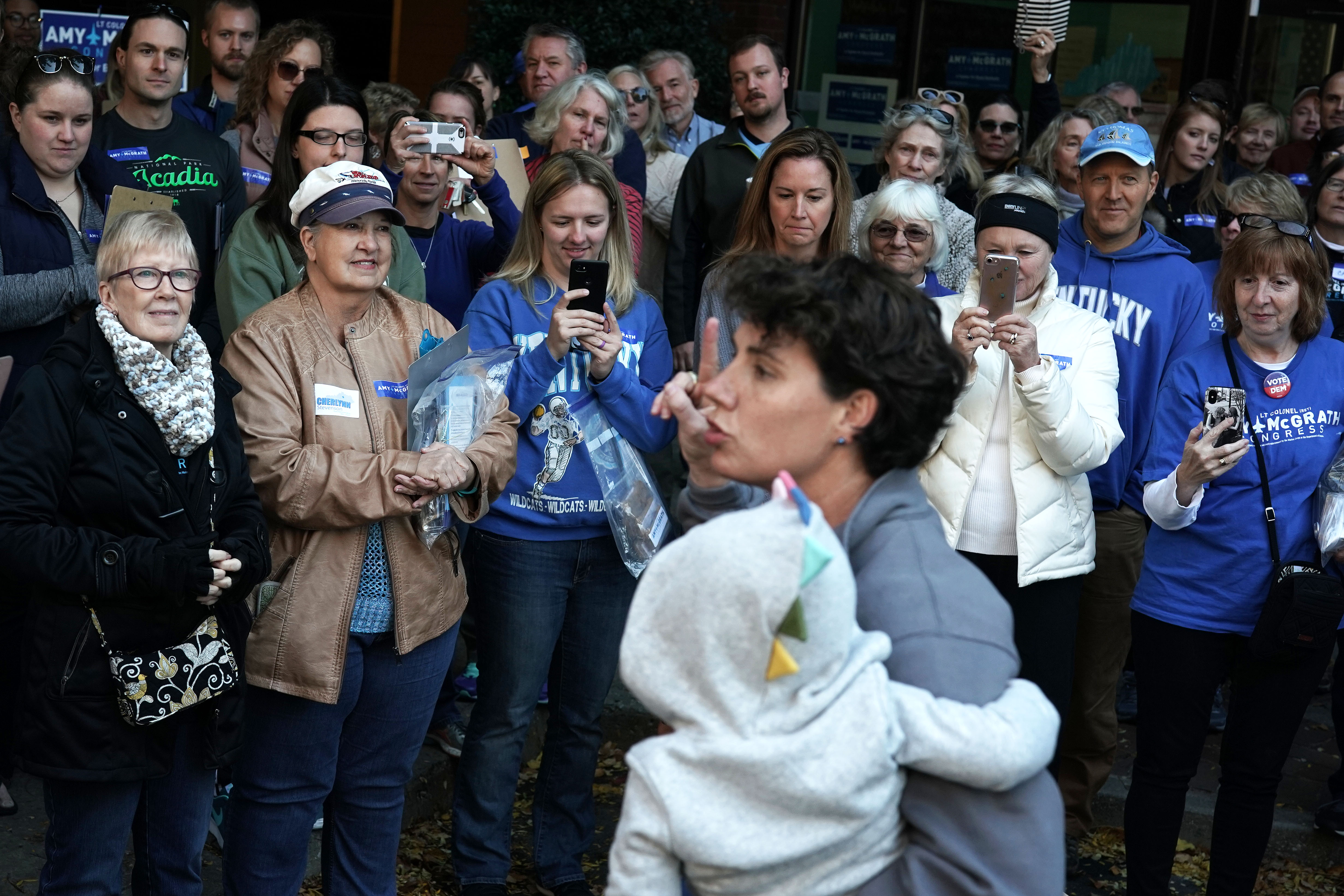 Democratic U.S. House of Representatives candidate for Kentucky's Sixth Congressional District Amy McGrath speaks to campaign volunteers during a canvass launch November 3, 2018 in Lexington, Kentucky. (Photo by Alex Wong/Getty Images)