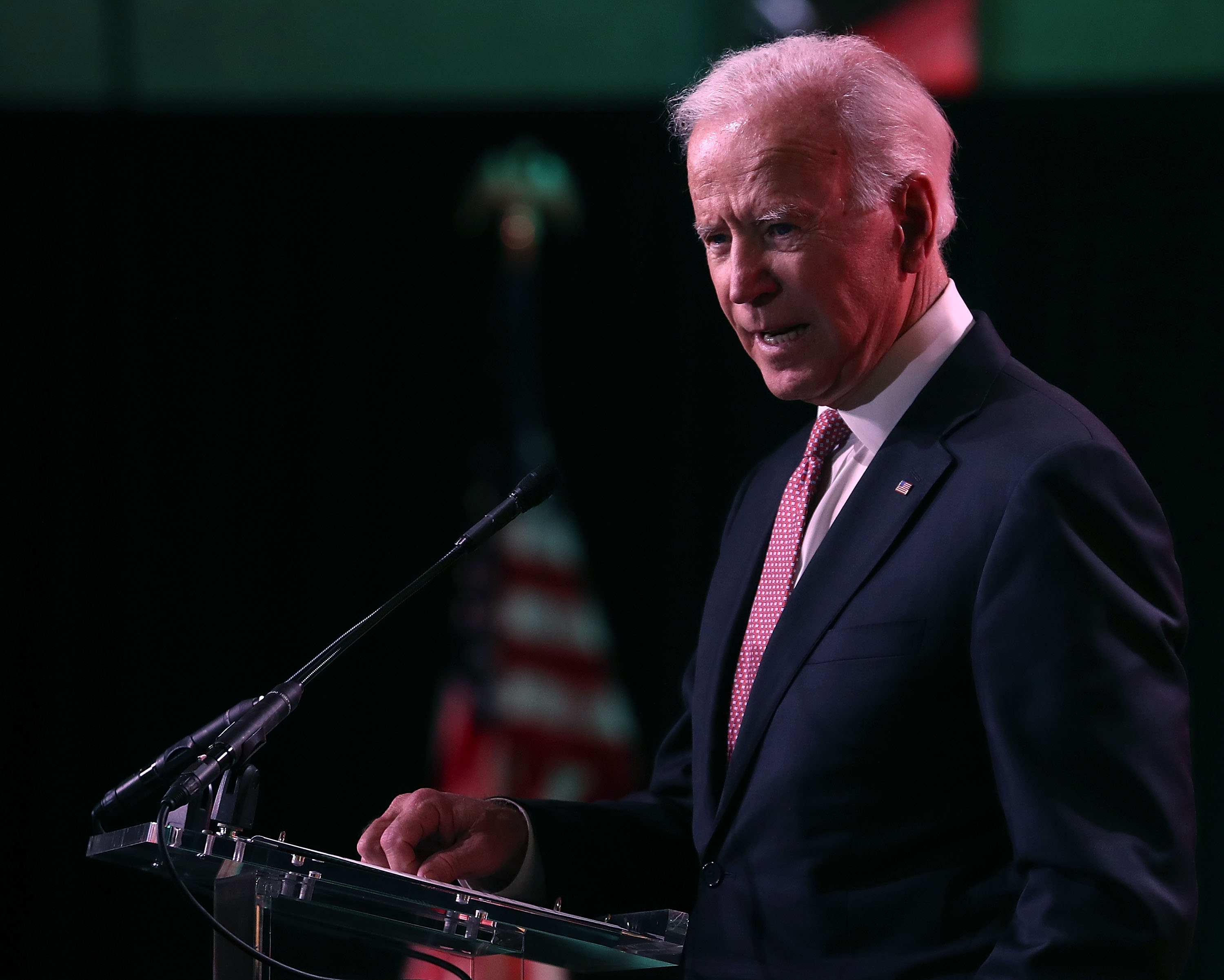 WASHINGTON, DC - JANUARY 24: Former U.S. Vice President Joe Biden speaks during the 87th United States Conference of Mayors Winter Meeting at the Capitol Hilton on January 24, 2019 in Washington, DC. (Mark Wilson/Getty Images)