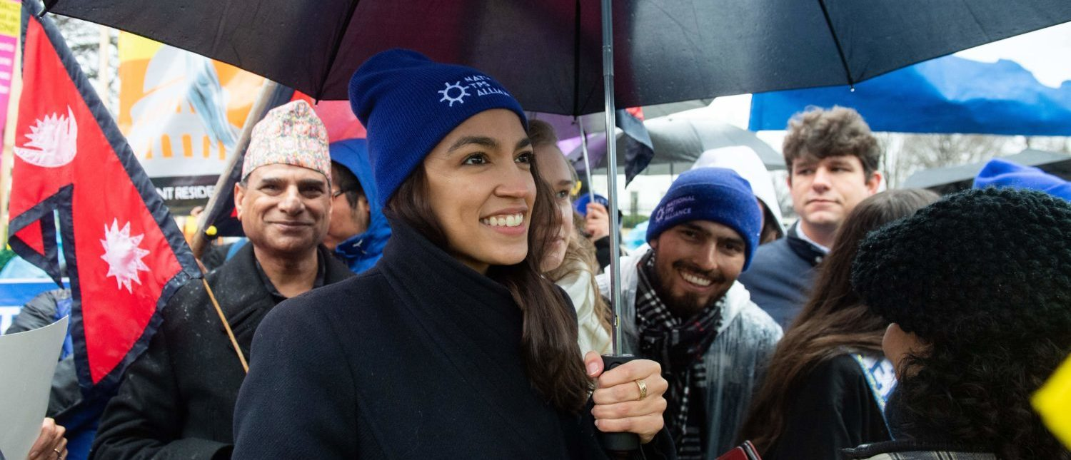 US Representative Alexandria Ocasio-Cortez, Democrat of New York, arrives to speak during the March For TPS Justice rally in support of DACA recipients and temporary protected status holders as demonstrators protest for permanent residency outside the White House in Washington, DC, February 12, 2019. (Photo: SAUL LOEB/AFP/Getty Images)