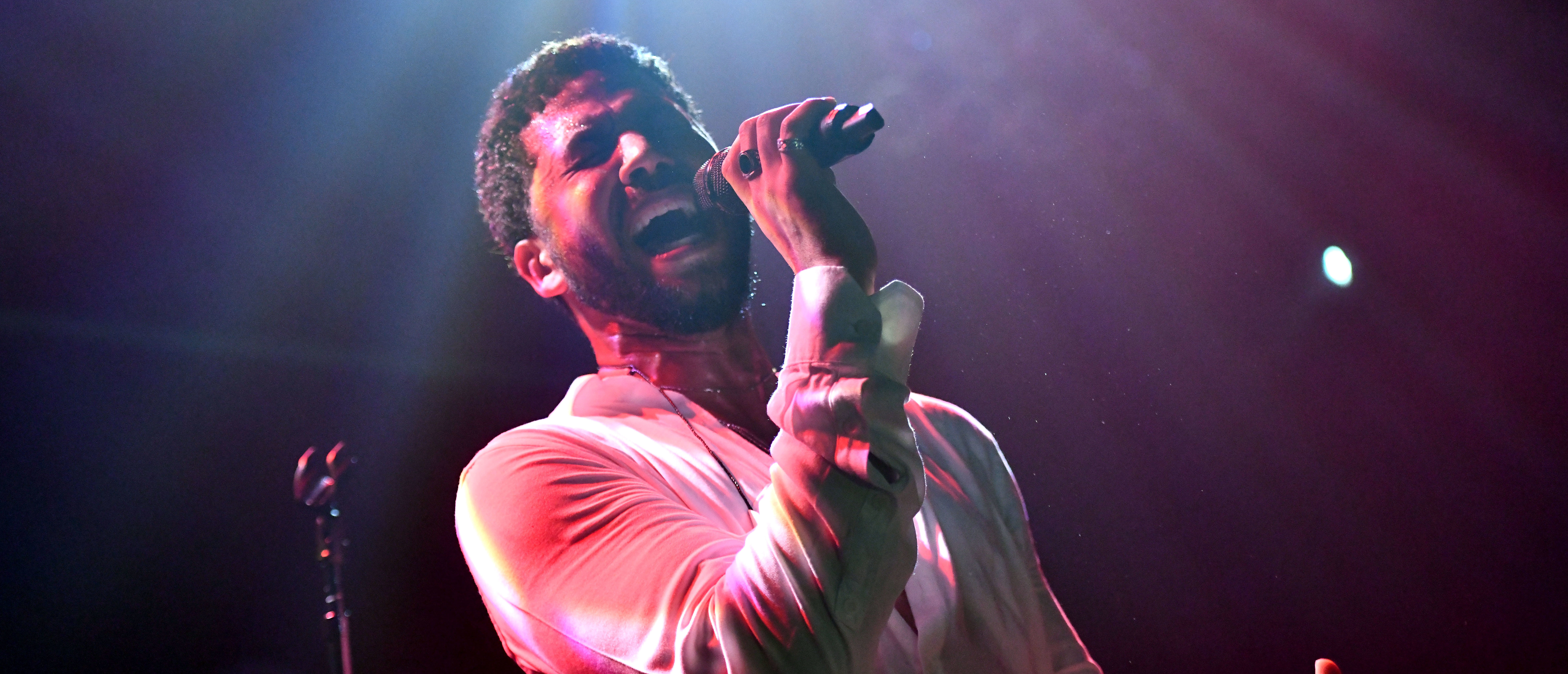 WEST HOLLYWOOD, CALIFORNIA - FEBRUARY 02: Singer Jussie Smollett performs onstage at Troubadour on February 02, 2019 in West Hollywood, California. (Scott Dudelson/Getty Images for ABA)