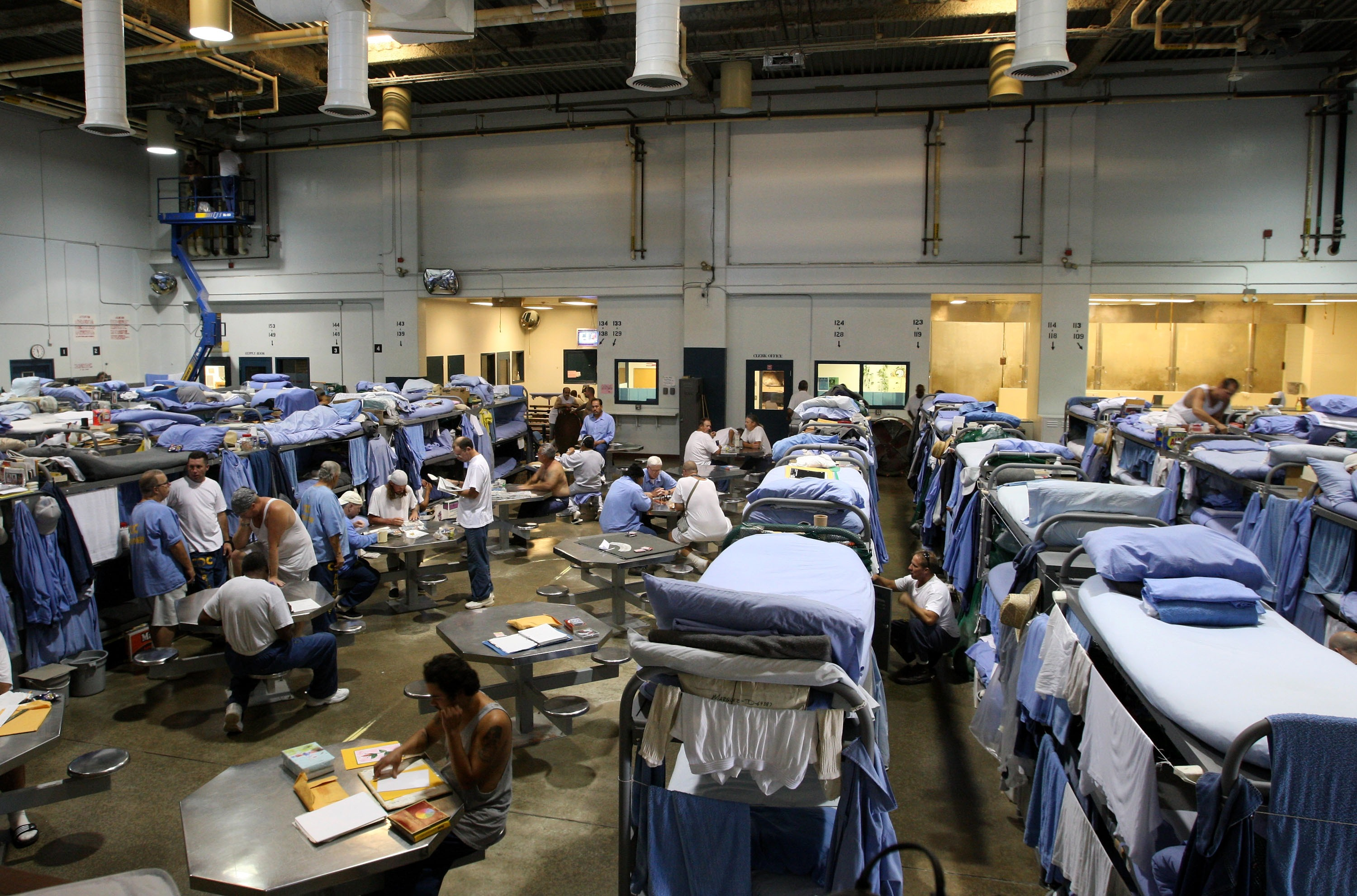 The Mule Creek State Prison has had to modify several facilities to make room for an increasing number of inmates. (Photo by Justin Sullivan/Getty Images)