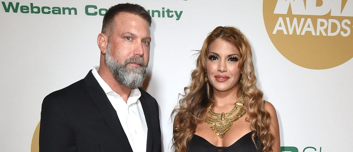 LOS ANGELES, CA - JANUARY 18: Damon Sims (L) and Mercedes Carrera attend the 2018 XBIZ Awards on January 18, 2018 in Los Angeles, California. (Photo by Joshua Blanchard/Getty Images for XBIZ)