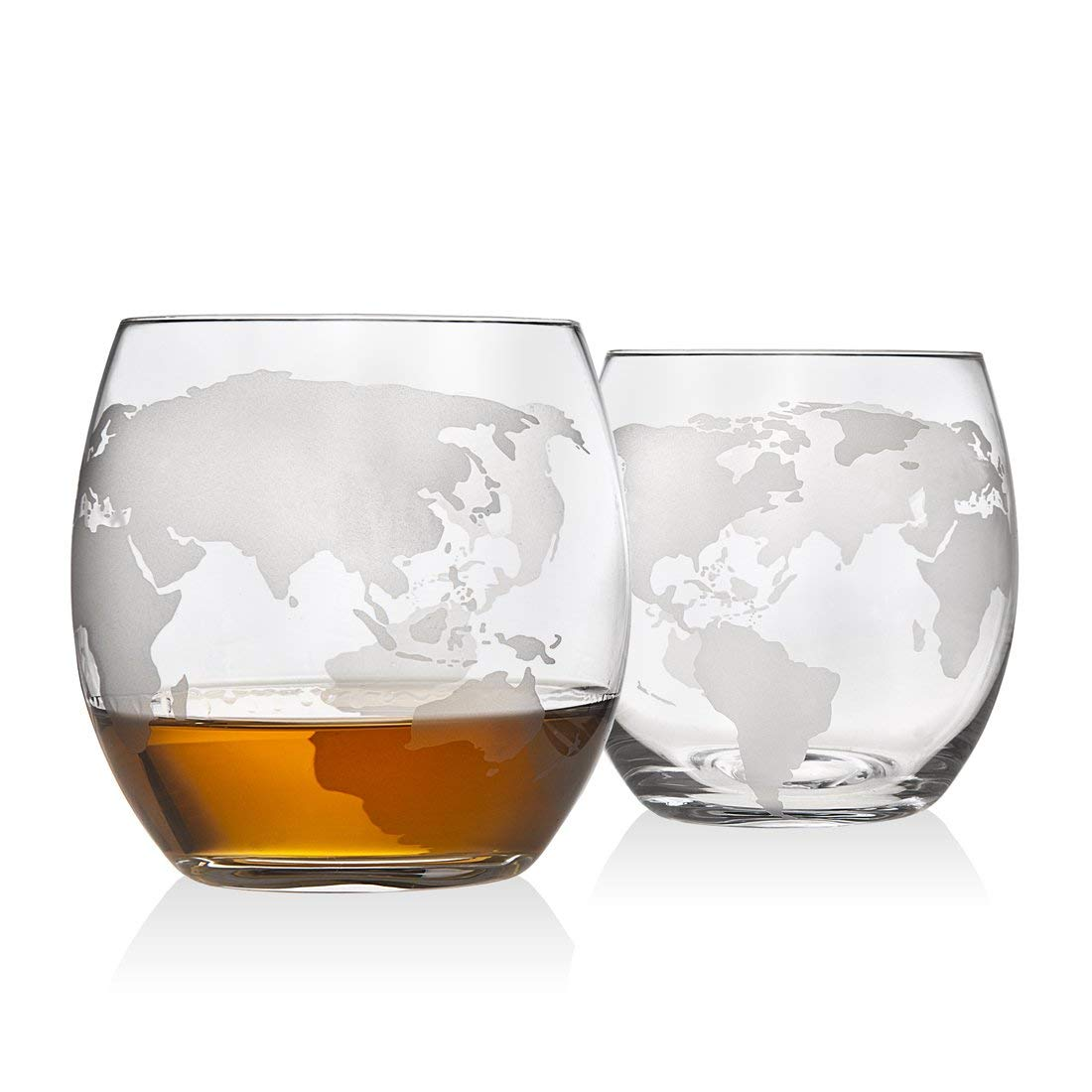 Take 40 percent off a set of whiskey glasses and a globe-themed decanter (Photo via Amazon)