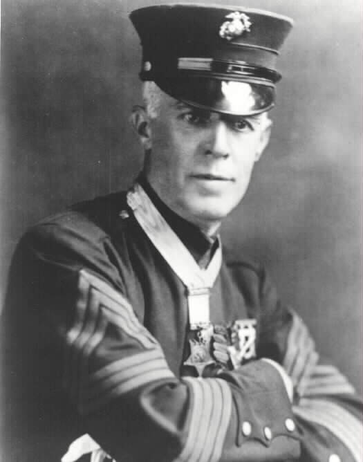 Henry Hulbert, wearing the Medal of Honor, is seen in this undated photo. (Credit: U.S. Marine Corp)