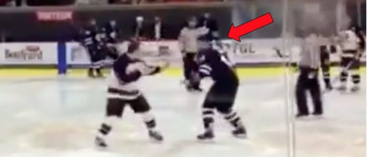 Hockey Players Square Up To Fight, End Up Dancing