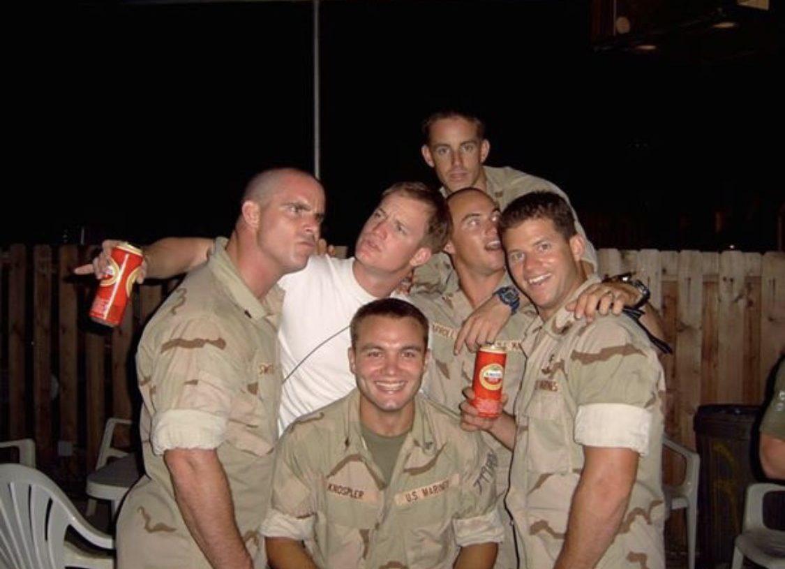 Knospler with other Marines (Courtesy the Knospler family)