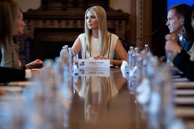 Ivanka Trump(C) speaks during the Women's Global Development and Prosperity Initiative roundtable in Washington, DC, on February 7, 2019. (Photo credit: JIM WATSON/AFP/Getty Images)