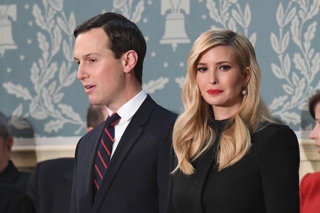 Senior Advisor to the President Ivanka Trump (R) and husband Senior Advisor to the President Jared Kushner arrive to attend the State of the Union address at the US Capitol in Washington, DC, on February 5, 2019.(Photo credit: SAUL LOEB/AFP/Getty Images)