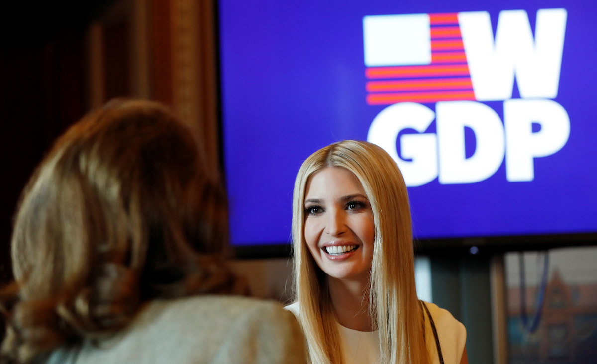 Ivanka Trump hosts a roundtable on the Women's Global Development and Prosperity Initiative at the White House in Washington, U.S., February 7, 2019. REUTERS/Kevin Lamarque