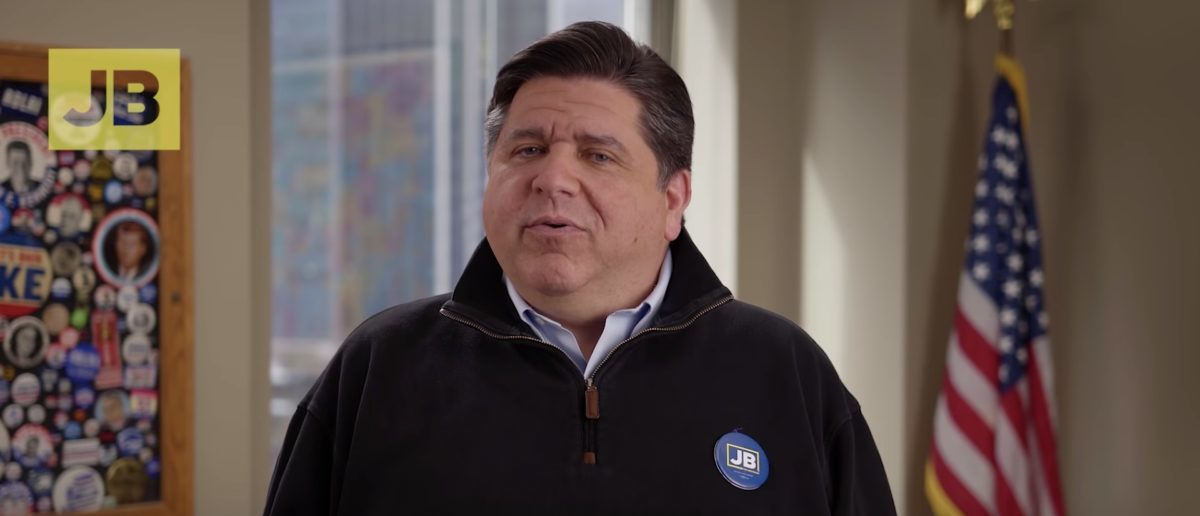 """J.B. Pritzker in a campaign ad during his run to be governor of Illinois. YouTube/Screenshot/JB Pritzker: """"Vote"""""""