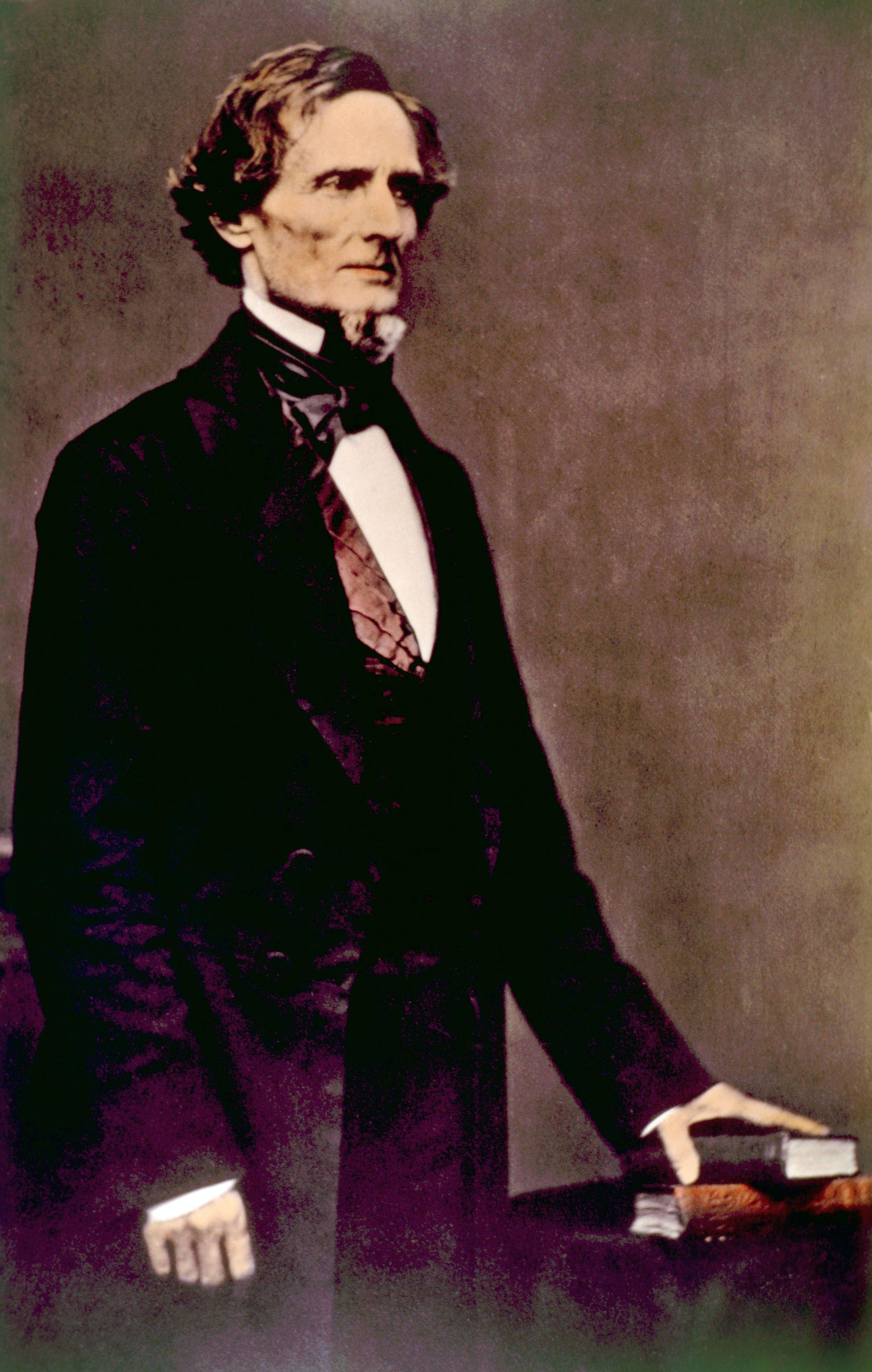 Jefferson Davis' colorized photograph (Shutterstock/ Everett Historical)