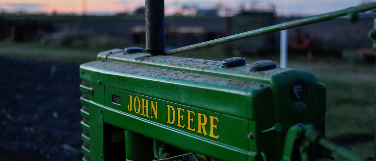A 1941 Model H John Deere tractor is photographed at a farm in Hutto, Texas, U.S., Feb. 16, 2017. REUTERS/Mohammad Khursheed