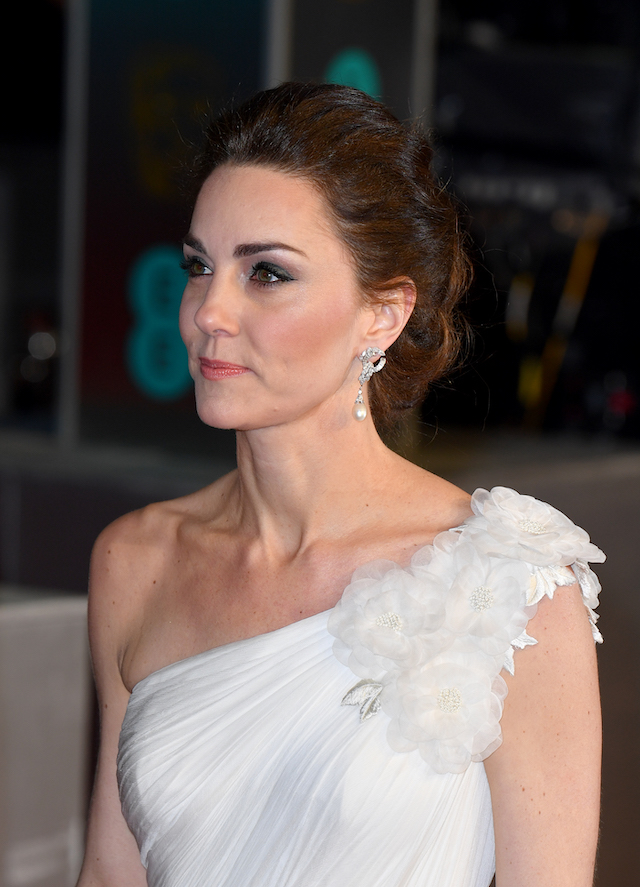 Catherine, Duchess of Cambridge attends the EE British Academy Film Awards at Royal Albert Hall on February 10, 2019 in London, England. (Photo by Gareth Cattermole/Getty Images)