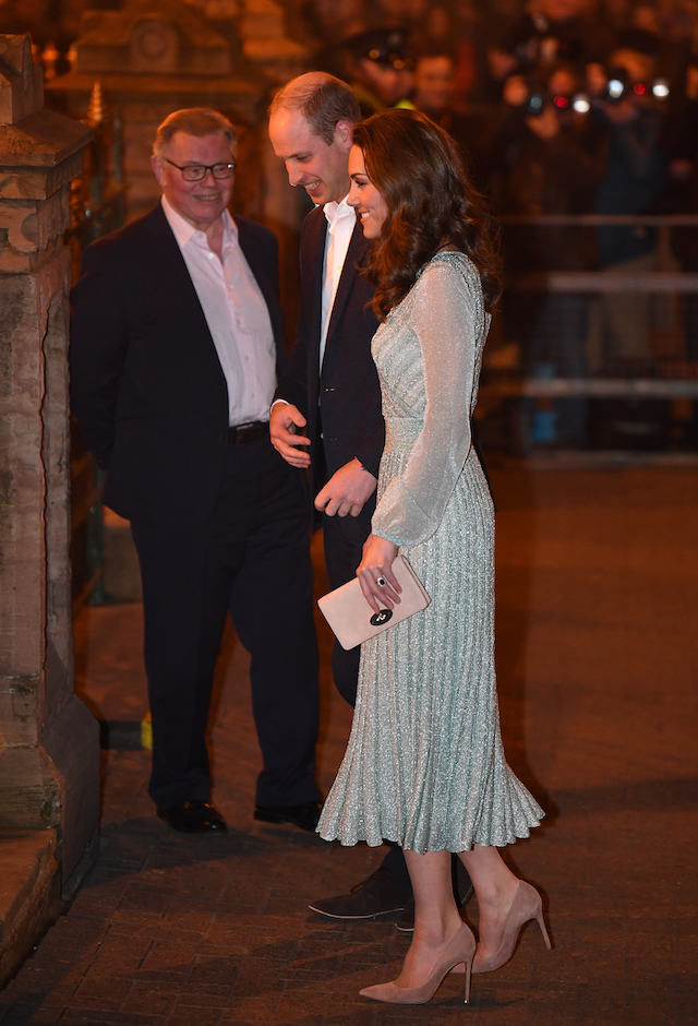 Prince William, Duke of Cambridge and Catherine, Duchess of Cambridge visit the Empire Music Hall on February 27, 2019 in Belfast, Northern Ireland. Prince William last visited Belfast in October 2017 without his wife, Catherine, Duchess of Cambridge, who was then pregnant with the couple's third child. (Photo by Jeff J Mitchell/Getty Images)