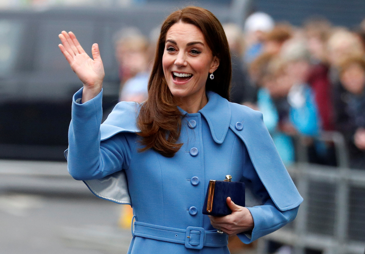 Britain's Catherine, Duchess of Cambridge waves as she arrives at the Braid Centre in Ballymena, Northern Ireland, February 28, 2019. REUTERS/Phil Noble