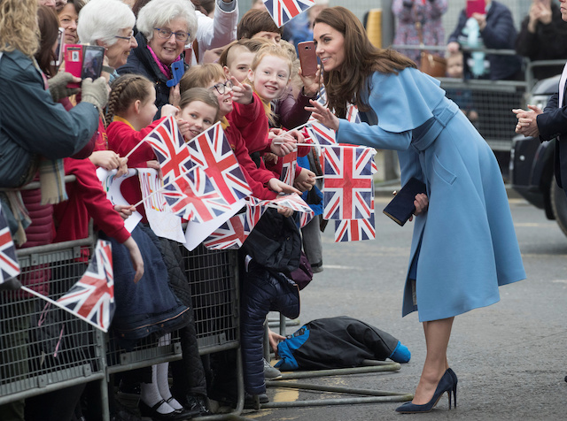 Britain's Catherine Duchess of Cambridge is seen on a walkabout outside the Braid Centre in Ballymena, Northern Ireland February 28, 2019. Stephen Lock/Pool via REUTERS
