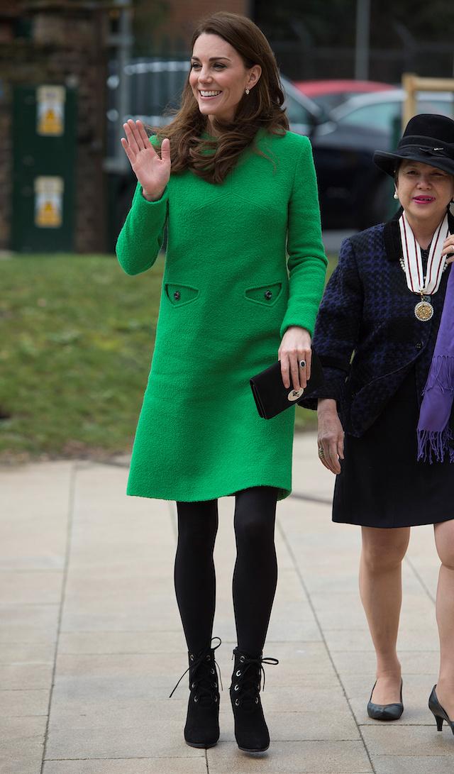 Catherine, Duchess of Cambridge visits Alperton Community School, in London, Britain, February 5, 2019. Eddie Mulholland/Pool via REUTERS