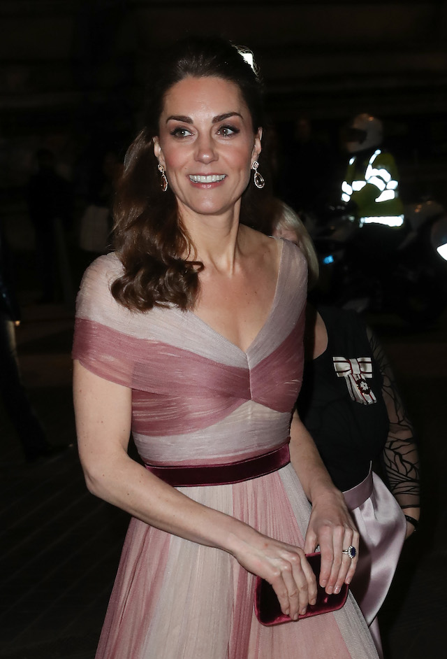 Catherine, Duchess of Cambridge, patron of 100 Women in Finance's Philanthropic Initiatives, attends a Gala Dinner in aid of 'Mentally Healthy Schools' at the Victoria and Albert Museum on February 13, 2019 in London, England. (Photo by Chris Jackson - WPA Pool/Getty Images)