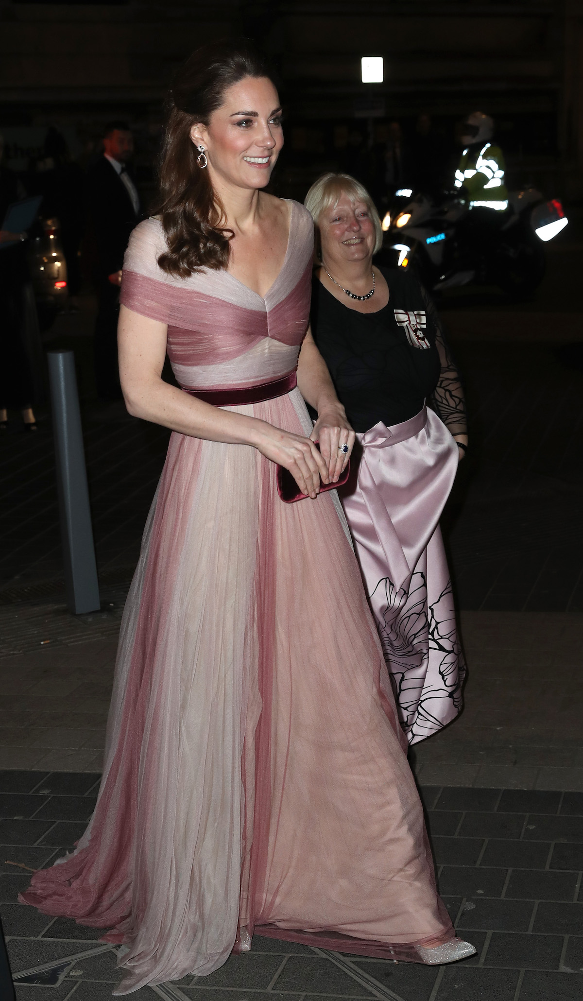 Catherine, Duchess of Cambridge, patron of 100 Women in Finance's Philanthropic Initiatives, and Colonel Jane Davis, Her Majesty's Vice Lord Lieutenant of Greater London, attend a Gala Dinner in aid of 'Mentally Healthy Schools' at the Victoria and Albert Museum on February 13, 2019 in London, England. (Photo by Chris Jackson - WPA Pool/Getty Images)