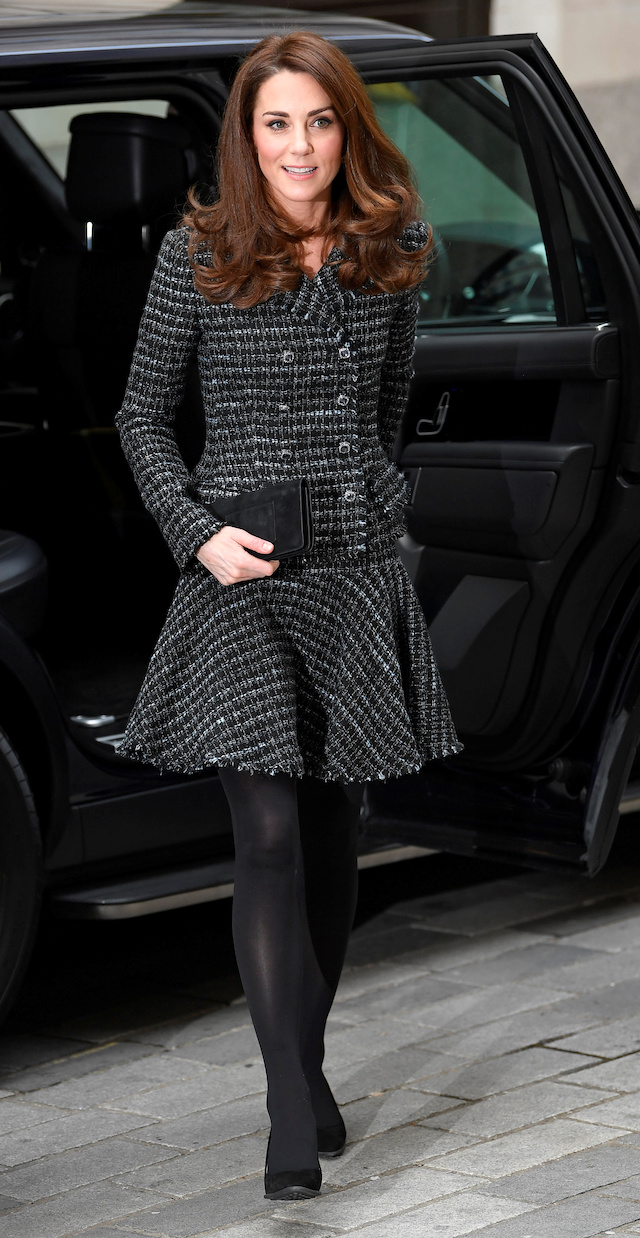 "Britain's Catherine, Duchess of Cambridge arrives to attend the Royal Foundation's ""Mental Health in Education"" conference at the Mercer's Hall in London, Britain February 13, 2019. REUTERS/Toby Melville"