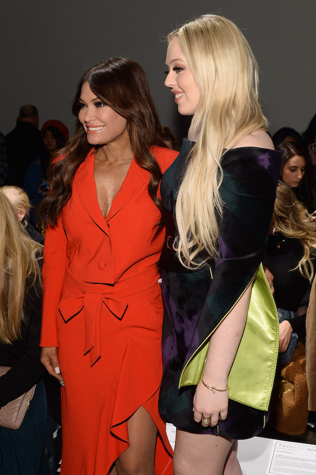 Kimberly Guilfoyle and Tiffany Trump attend the Taoray Wang front row during New York Fashion Week: The Shows at Gallery II at Spring Studios on February 9, 2019 in New York City. (Photo by Noam Galai/Getty Images for Taoray Wang)