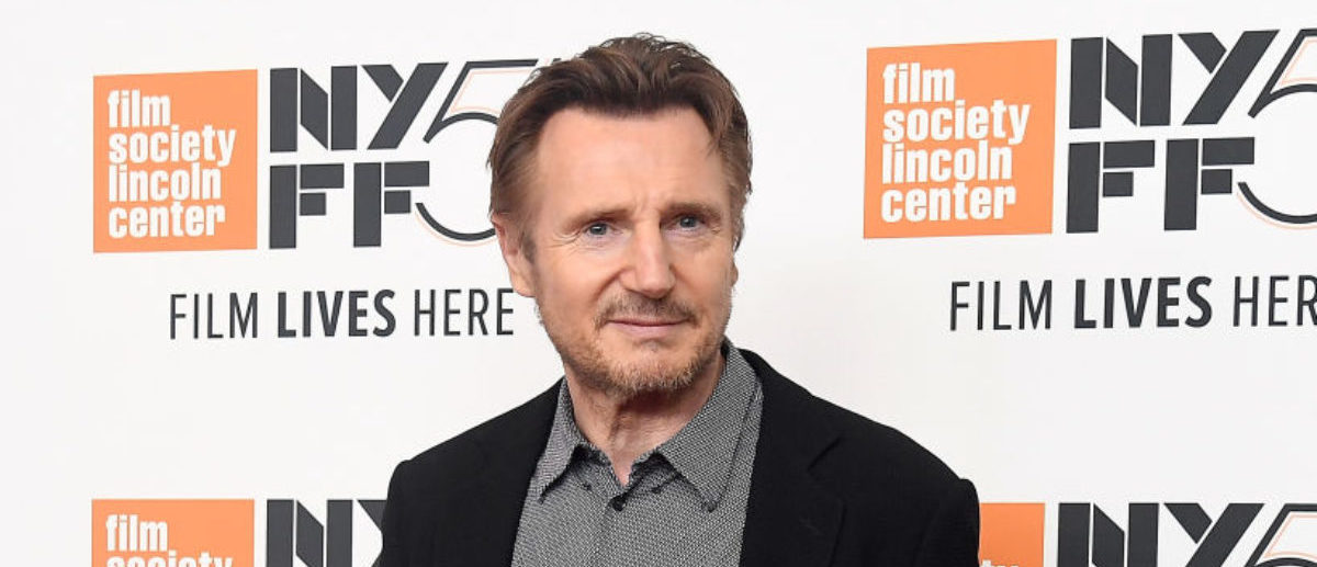 "NEW YORK, NY - OCTOBER 04: Liam Neeson attends the screening of ""The Ballad of Buster Scruggs"" during the 56th New York Film Festival at Alice Tully Hall, Lincoln Center on October 4, 2018 in New York City. (Photo by Nicholas Hunt/Getty Images)"