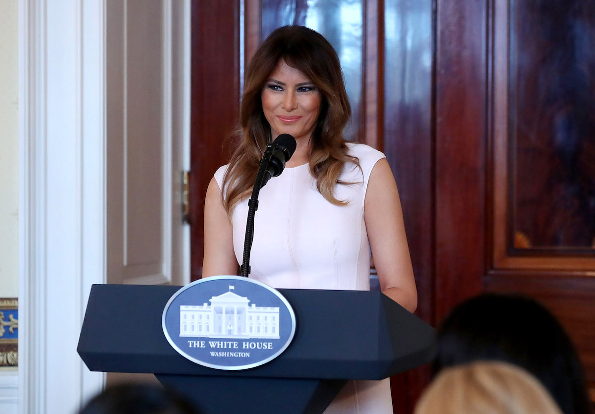 Melania Makes Special Trip To Walter Reed To Present Purple Heart