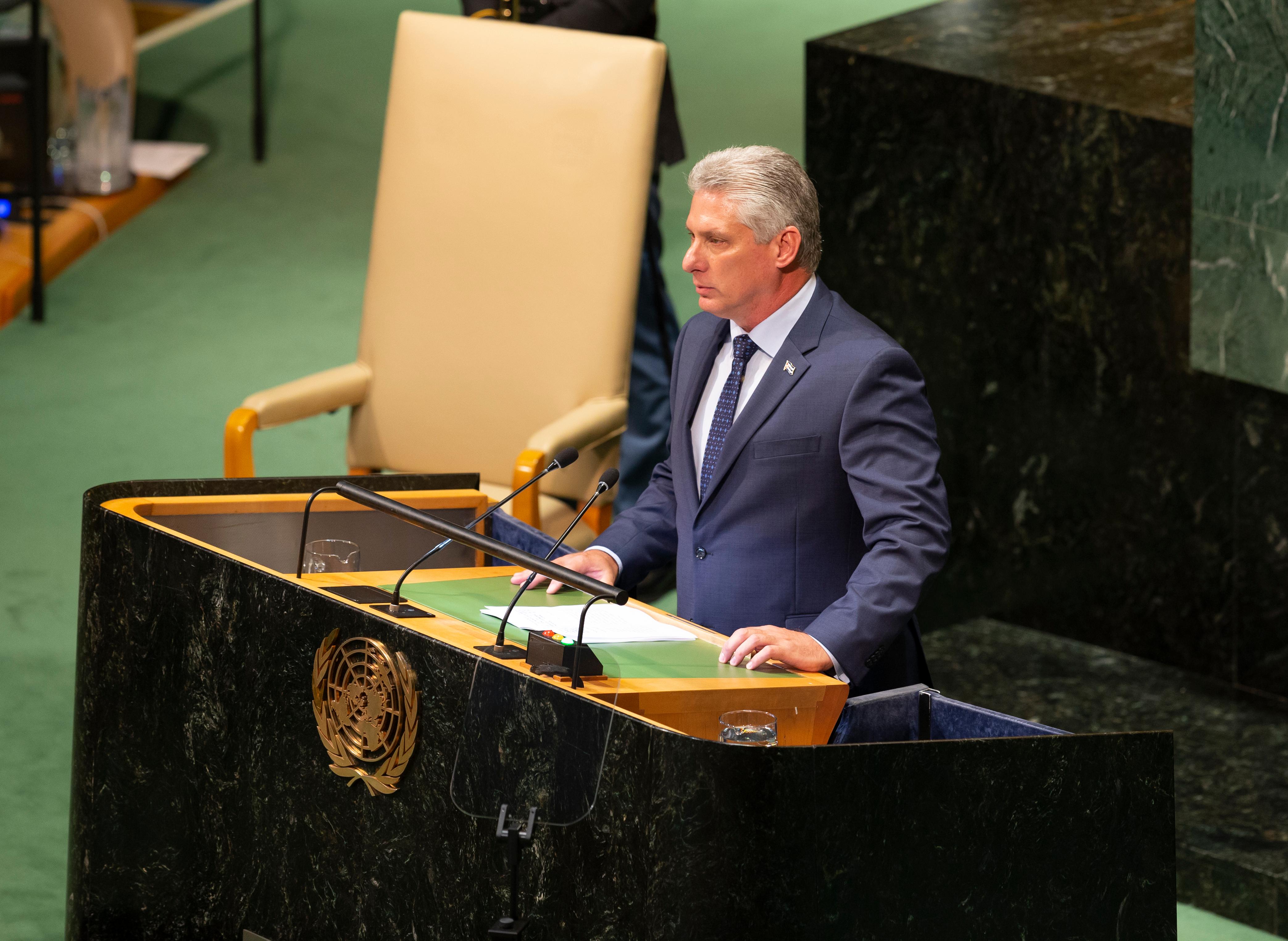 Pictured is Cuban President Miguel Díaz-Canel. SHUTTERSTOCK/ lev radin