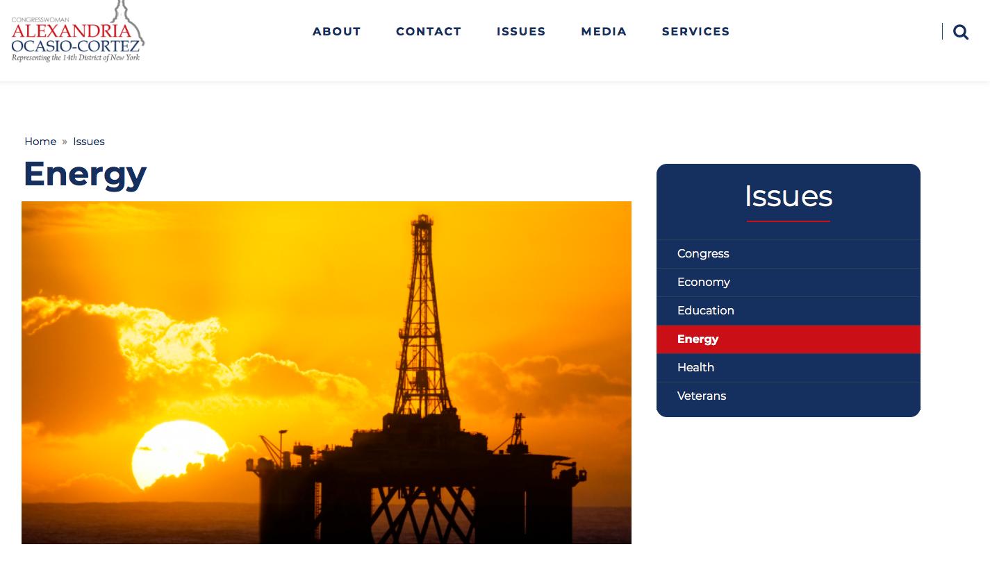 Screenshot of Ocasio's House website.