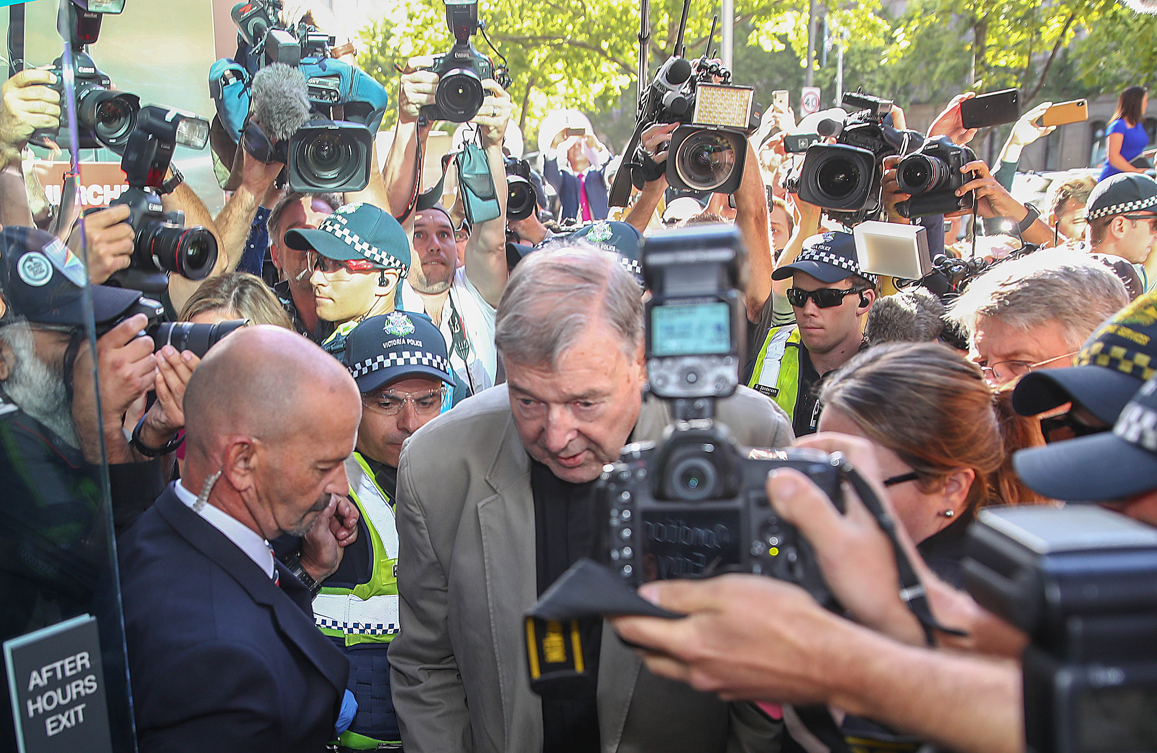 George Pell arrives at Melbourne County Court on February 27, 2019 in Melbourne, Australia. (Photo by Scott Barbour/Getty Images)