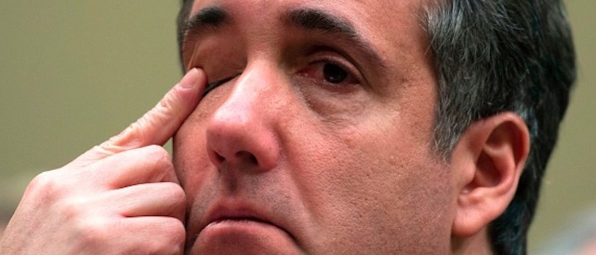Michael Cohen, US President Donald Trump's former personal attorney, finishes his testimony before the House Oversight and Reform Committee in the Rayburn House Office Building on Capitol Hill in Washington, DC on February 27, 2019. (Photo by Andrew CABALLERO-REYNOLDS / AFP) (Photo credit should read ANDREW CABALLERO-REYNOLDS/AFP/Getty Images)