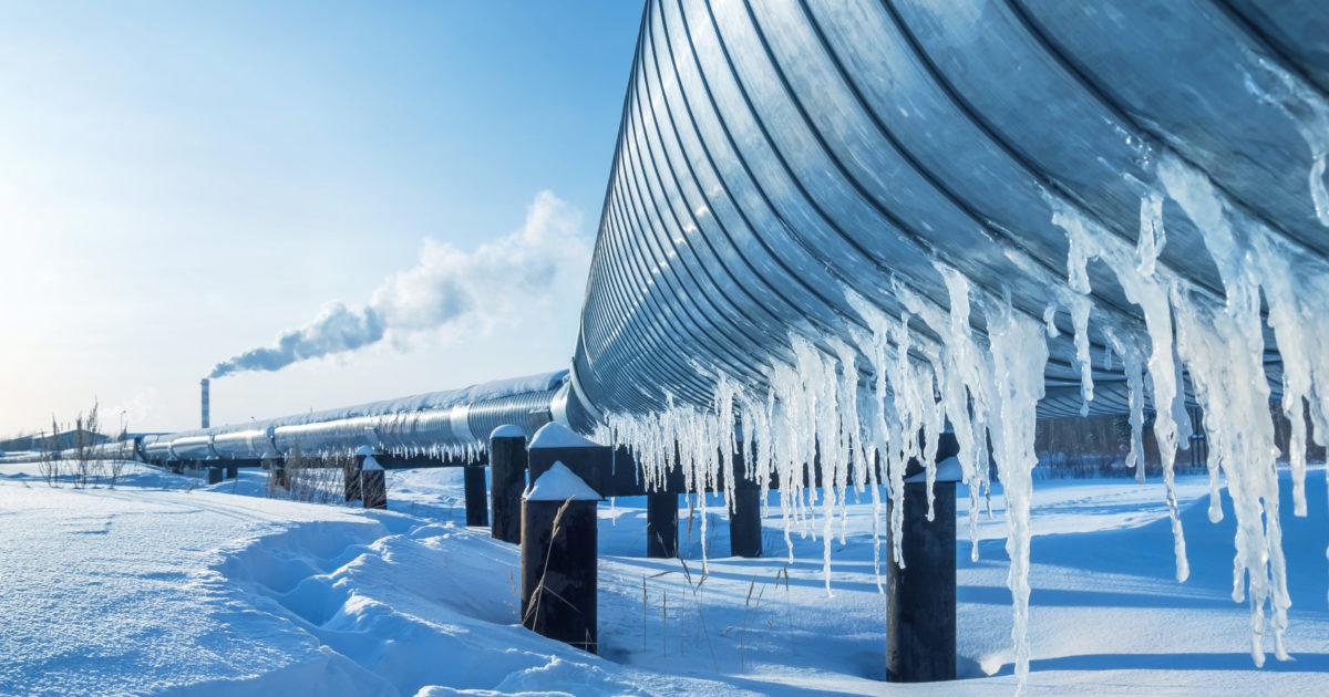 Pipeline in the snow. Shutterstock photo