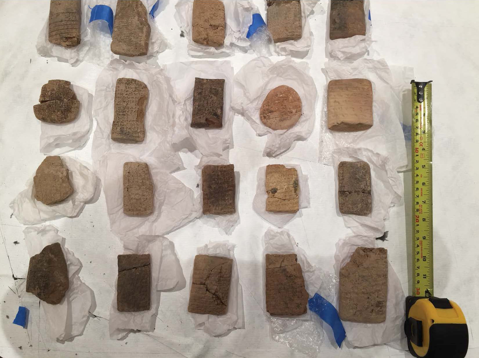 Repatriated Iraqi artifacts are shown in this photo in Washington, D.C., U.S., released May 2, 2018. U.S. Attorney's Office for the Eastern District of New York/Handout via REUTERS