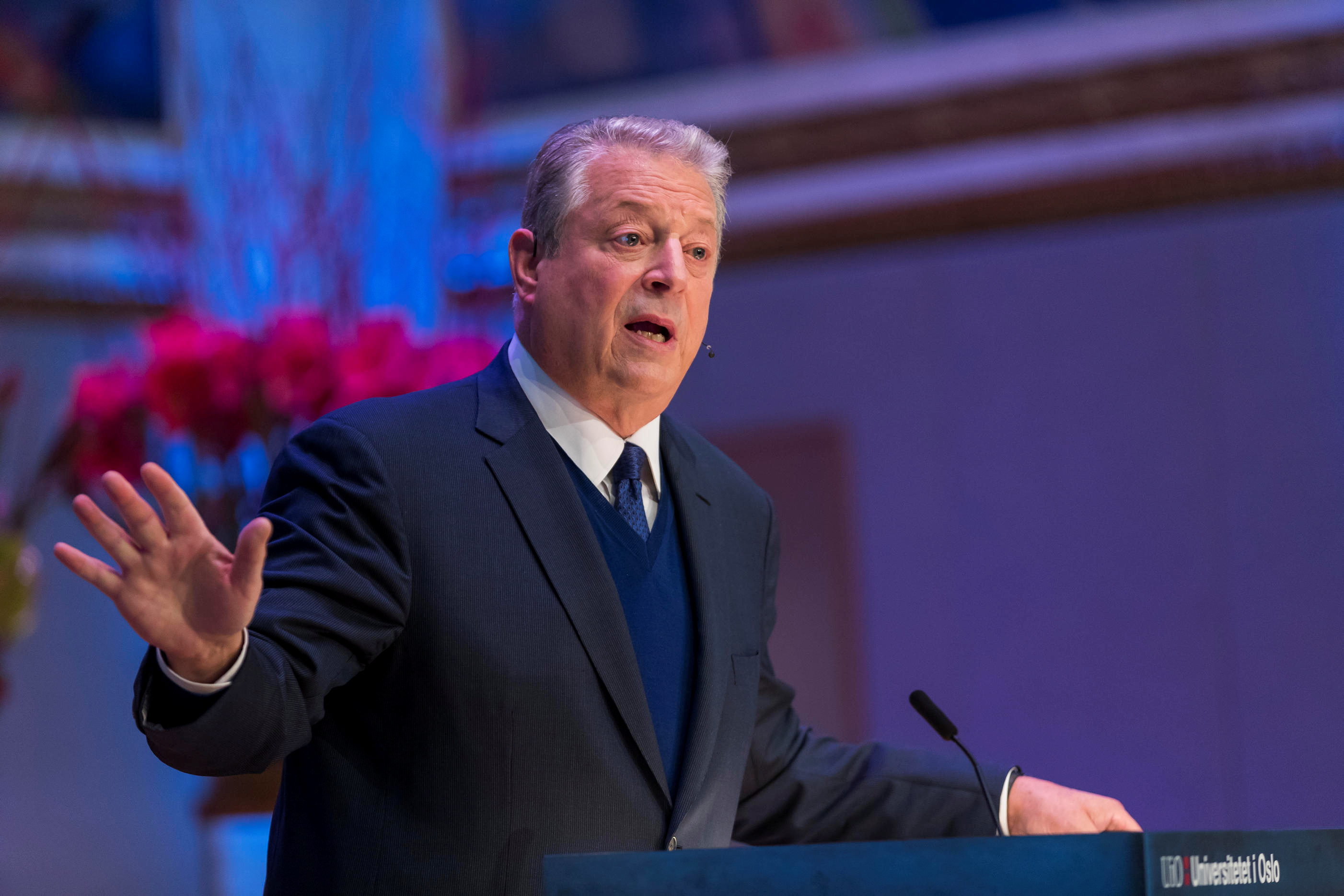 Former U.S. VP Gore at Nobel Peace Prize Forum in Oslo