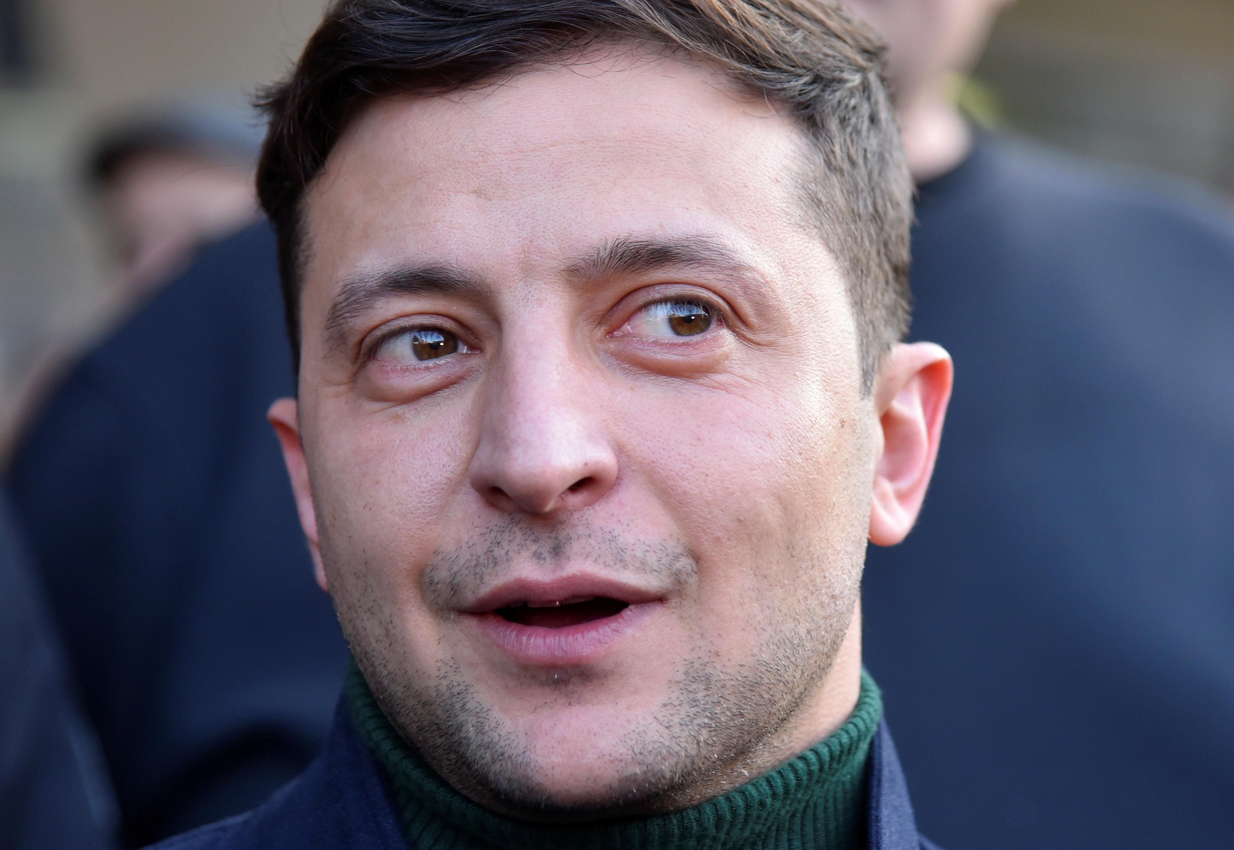 Volodymyr Zelenskiy, Ukrainian actor, leads latest polls for Ukraine's presidential race. February 8, 2019. REUTERS/Mykola Tys