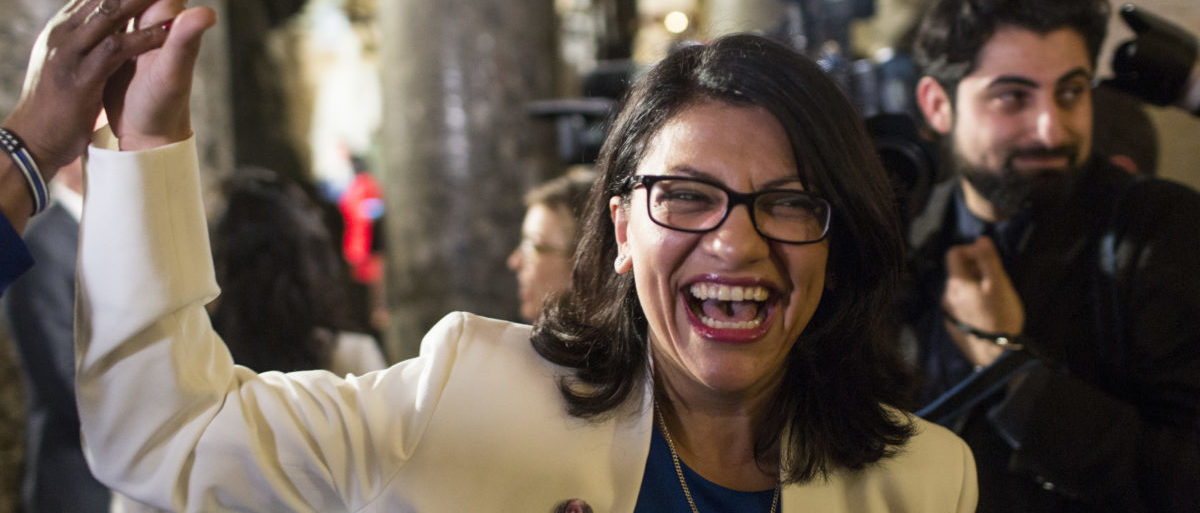 WASHINGTON, DC - FEBRUARY 05: Rep. Rashida Tlaib (D-MI) arrives ahead of the State of the Union address in the chamber of the U.S. House of Representatives at the U.S. Capitol Building on February 5, 2019 in Washington, DC. President Trump's second State of the Union address was postponed one week due to the partial government shutdown. (Photo by Zach Gibson/Getty Images)