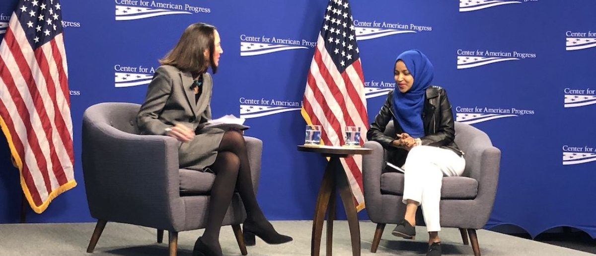 Rep. Ilhan Omar speaks at Center For American Progress event. (Photo: Henry Rodgers/ TheDCNF)