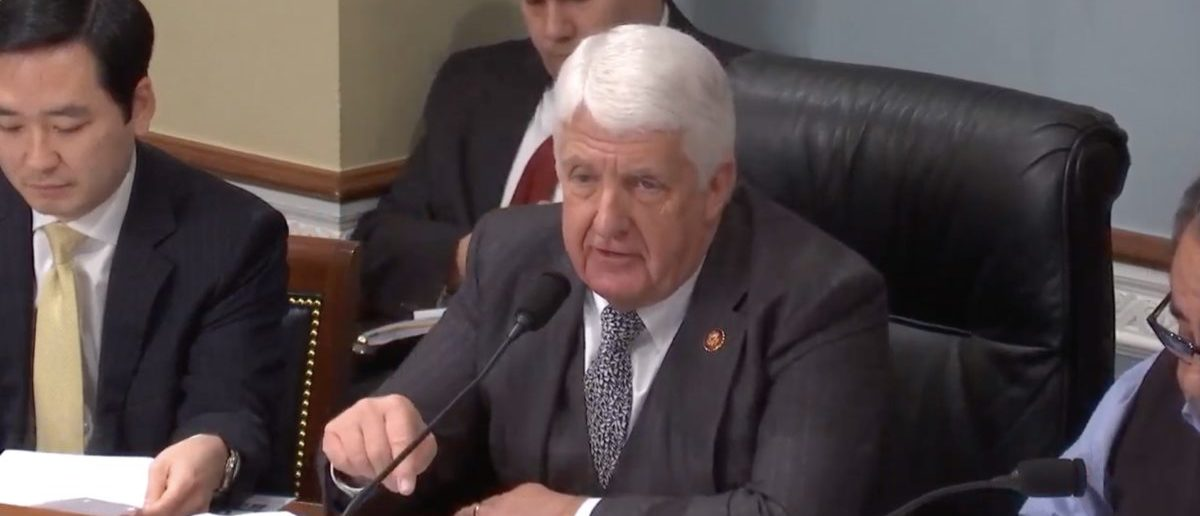 GOP Rep. Rob Bishop is pictured at a Natural Resources Committee hearing on climate change on Feb. 6, 2019. (YouTube/Screenshot/Climate Change: The Impacts and the Need to Act)