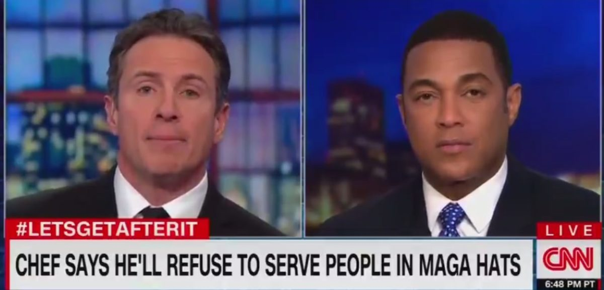 Chris Cuomo and Don Lemon (Screen capture from Twitter video)