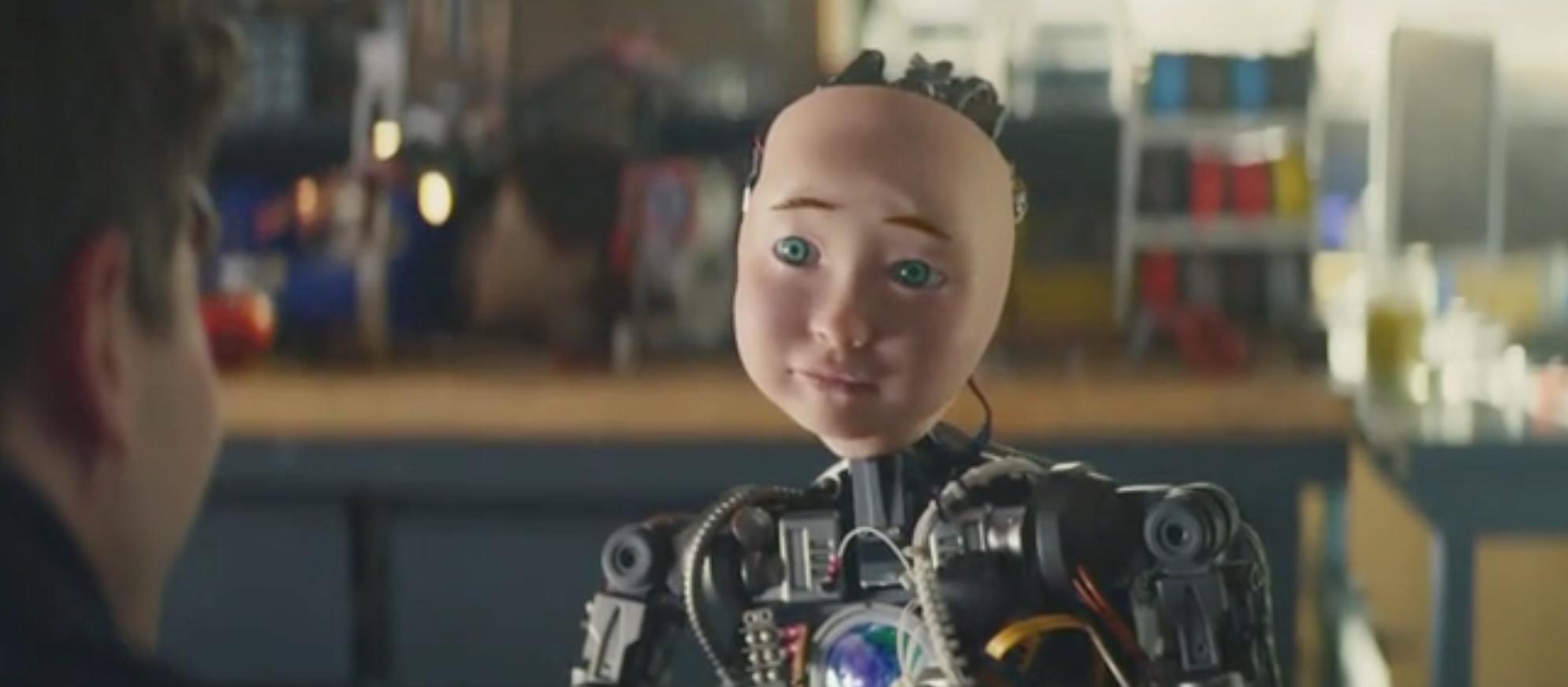 Turbo Tax Super Bowl Ad features robot. Screen Shot/CBS