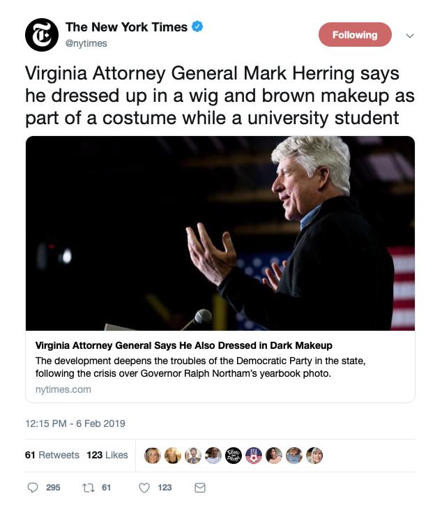 NYT 'Dark Makeup' (Twitter Screenshot)