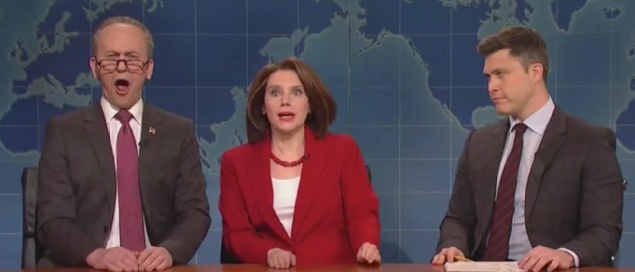 'SNL' pokes fun at President Trump over wall deal. Screen Shot/NBC